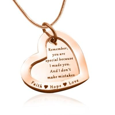 Personalisierte immer Halskette Liebe 18ct Rose Gold überzogen
