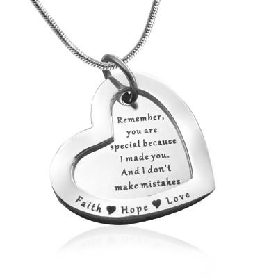 Personalisierte Liebe für immer Halskette Sterlingsilber