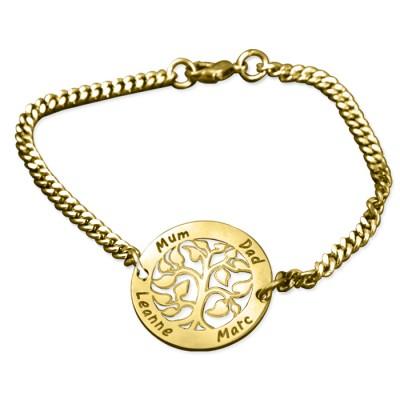 Personalisierte My Tree Armband 18 karätigem Gold überzogen