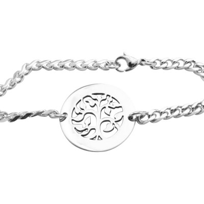 Personalisierte My Tree Armband / Fußkette Sterling Silber