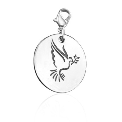 Personalisierte Peaceful Dove Charm