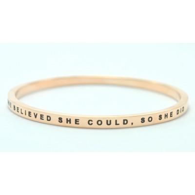 Personalisierte Sie glaubte, dass sie 18 karätigem Gold überzogenes Armband Könnten