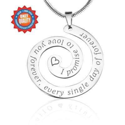 Personalisierte Versprechen Strudel Sterling Silber * Limited Edition