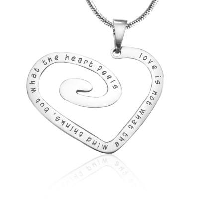 Personalisierte Liebes Herz Halskette Sterlingsilber * Limited Edition
