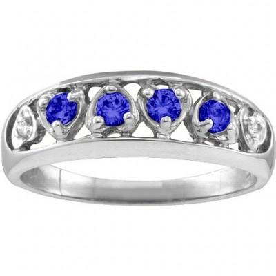 Lyric Embedded Herz Ring mit 2 6 Steinen
