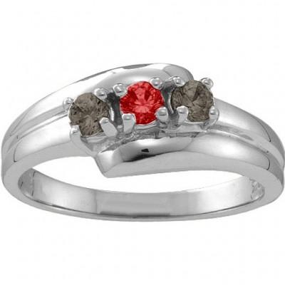Reverie abgewinkelt 2 6 Steine Ring