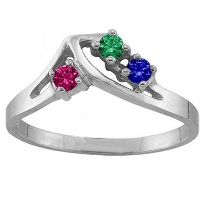 1 5 Stone Crest Ring