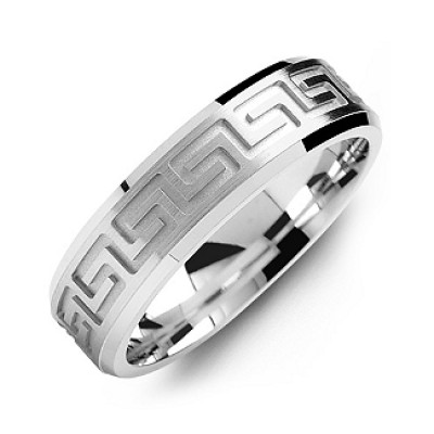 Greek Key Eternity genuteten Ring der Männer