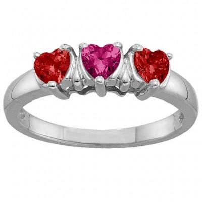 2 5 Herz Ring