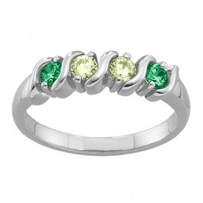2 6 Gemstones S Kurven Ring