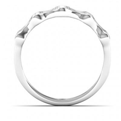 3 Row Fashion Wave Ring