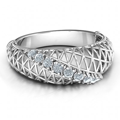 9 Stein geometrische Gitter Ring