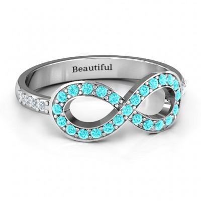 Betont Infinity Ring mit Schulter Steine