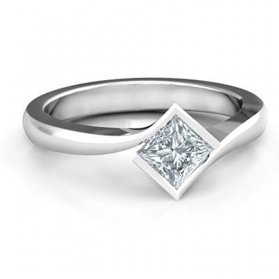 Alexandra Princess Cut Ring