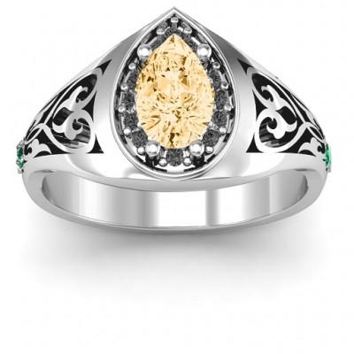 Aphrodite Ring mit Side Gems