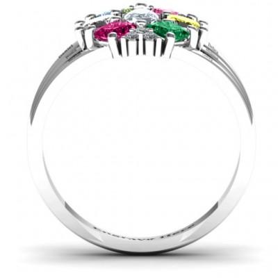 Arachna Zentrum Marquise und Prinzessin Ring mit Akzenten