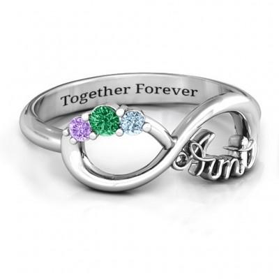 Tante Unendliche Liebe Ring mit Steinen
