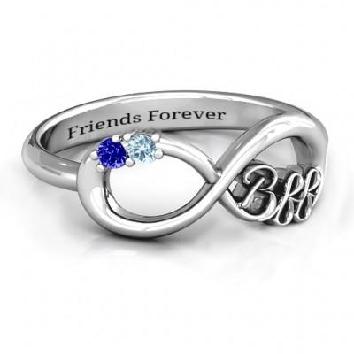 BFF Freundschaft Infinity Ring mit 2 bis 7 Steinen