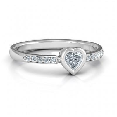 Lünette Love Ring mit Akzenten