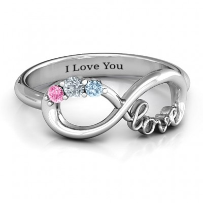 Birthstone Unendlichkeit Love Ring