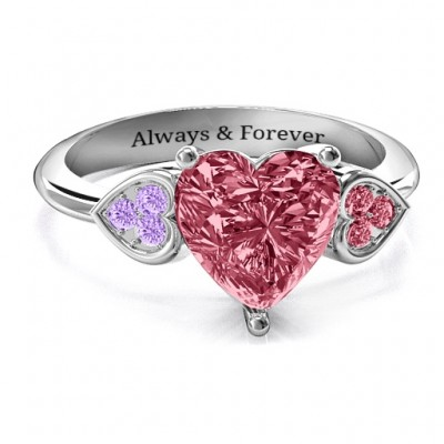 Brilliant Liebe Accented Herz Ring