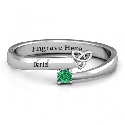 Celtic Solitaire Bypass Ring