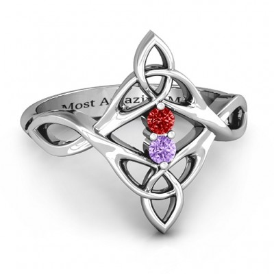 Celtic Sparkle Ring mit Interwoven Infinity Band