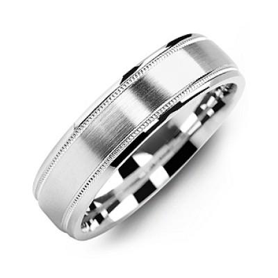 Klassische Pinsel Milgrain Ring der Männer