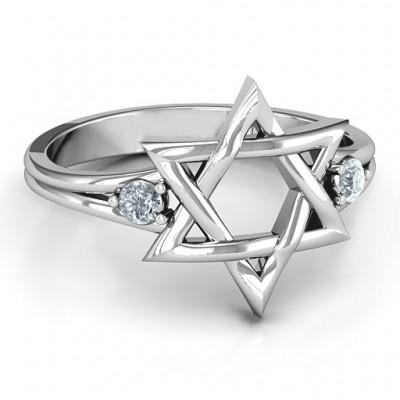 Klassische Davidstern Ring