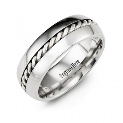 Cobalt Rope Ring