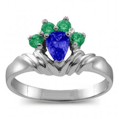 Crown Birne 2 8 Steine Ring