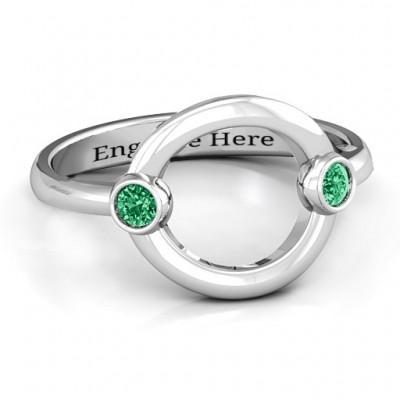Doppel Stein Karma Ring