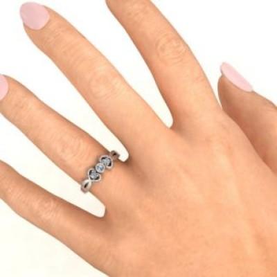 Doppel Stein Karma Ring mit Akzenten