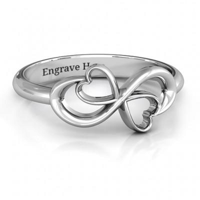Duo der Herzen Infinity Ring