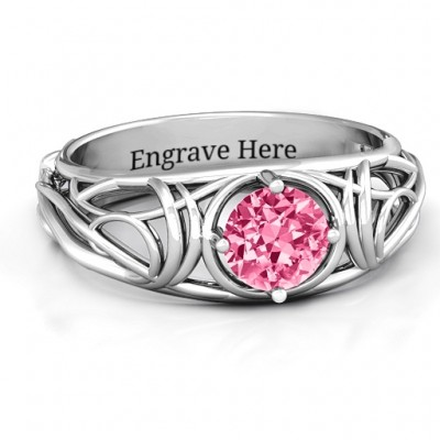 Enchanting Tangle of Love Ring