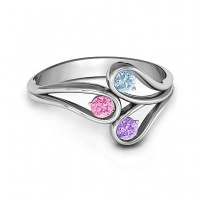 Ewige Eleganz Drei Stein Ring