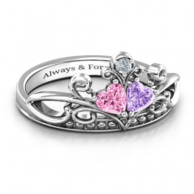 Immer Enchanted Double Heart Tiara Ring