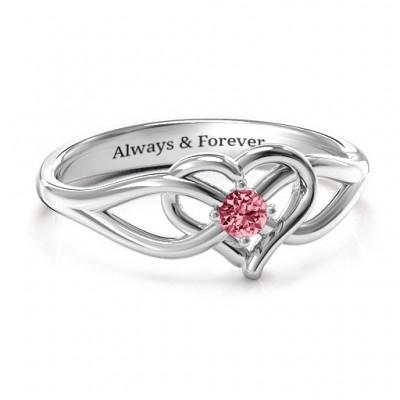 Everlasting Eleganz Interwoven Herz Ring