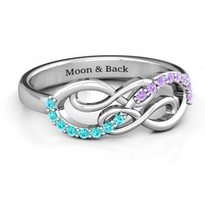 Everlasting Unendlichkeit Ring mit Edelsteinen
