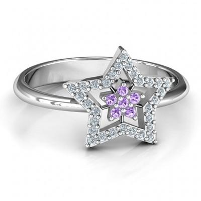 Schwimmender Stern mit Halo Ring