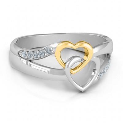 Für immer verbundene Herzen Ring