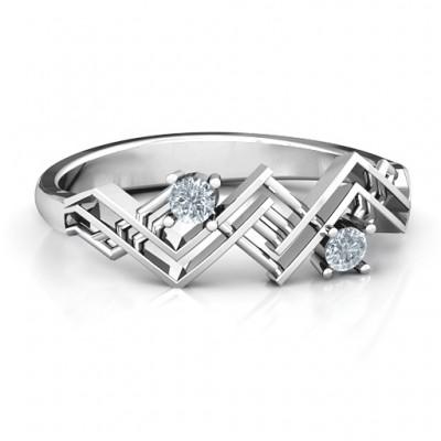 Geometrischer Glamour Ring
