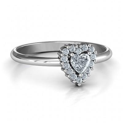 Herz mit Halo Promise Ring