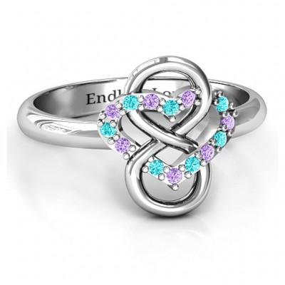 Unendliche Liebe mit Steinen Ringe