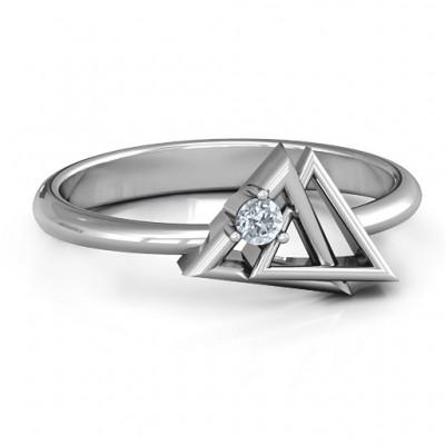 Verschlungene Dreieck Geometric Ring