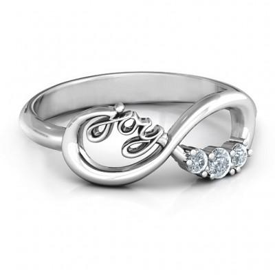 Joy Infinity Ring mit 3 Steinen