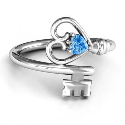 Schlüssel zu ihrem Herzen Ring