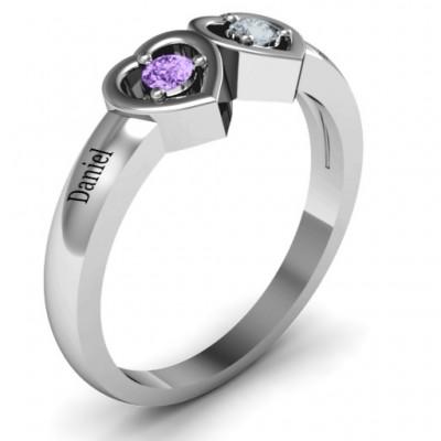 Kissing Herz Ring