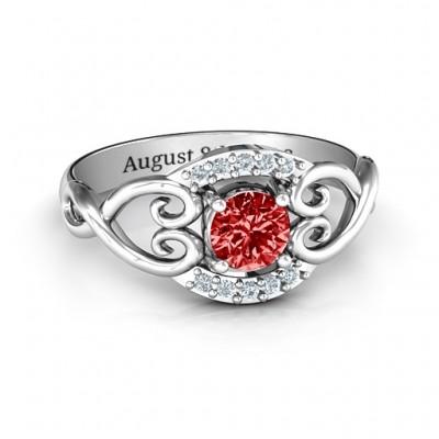 Lasting Love Promise Ring mit Akzenten