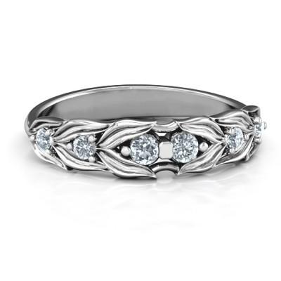 Blätter der Liebe 6 Stein Ring